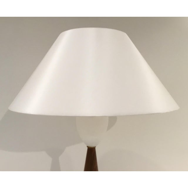 Arteriors Home Arteriors Mid-Century Modern Style Walnut and Marble Stanford Table Lamp For Sale - Image 4 of 6