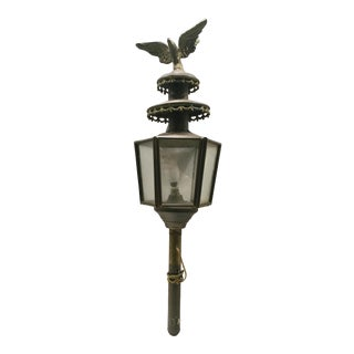 1950's Vintage Brass Eagle Porch Light For Sale