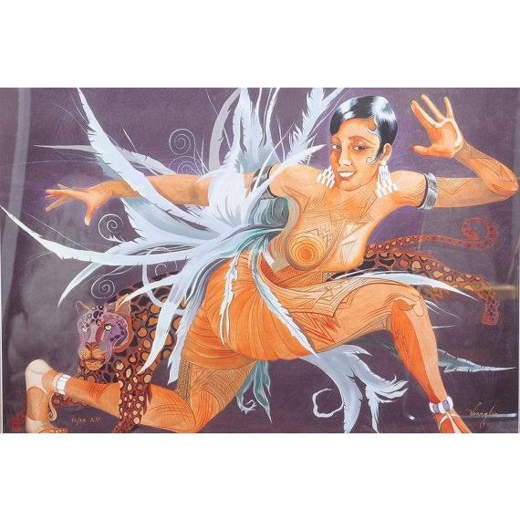 """Art Deco Josephine Baker """"Fabulous""""Limited Edition 12/25 AP ArtDeco Lithograph by Mark For Sale - Image 3 of 6"""