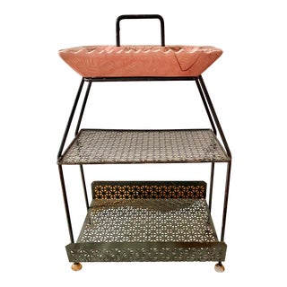 1960s Atomic Ashtray Iron Rack Side Table For Sale
