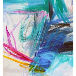 """""""Surf's Up"""" by Trixie Pitts Large Abstract Expressionist Oil Painting Preview"""