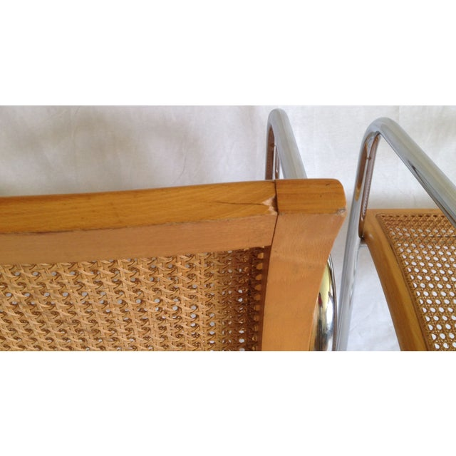 Chrome Dining Chairs with Caning - Set of 6 - Image 7 of 8