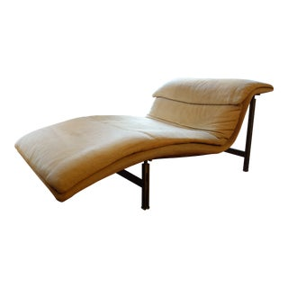 1970s Vintage Giovanni Offredi for Saporiti Wave Chaise Lounge For Sale