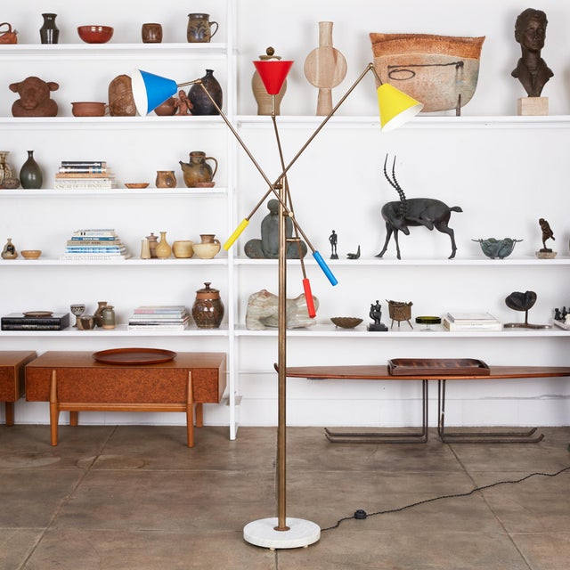 "Angelo Lelli style ""Triennale"" floor lamp, Italy, c. 1960s. This design was originally designed by Angelo Lelli in the..."