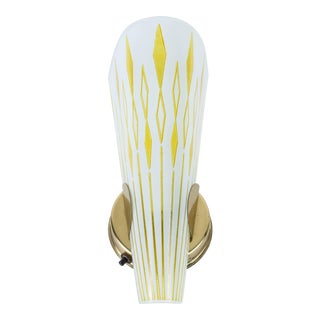 Mid-Century Sconce With Slipper Glass Shade For Sale