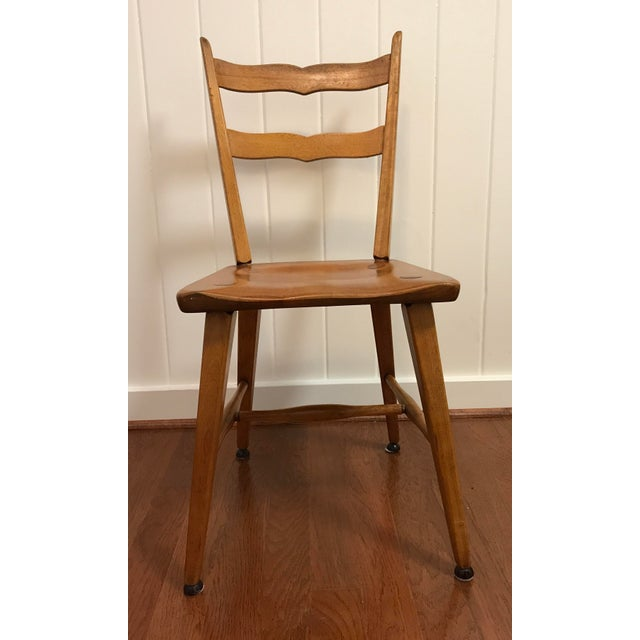 Country Mid Century Cushman Birch Solid Wood Chair For Sale - Image 3 of 10