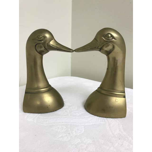 Shabby Chic 1960s Vintage Brass Dick Head Bookends- A Pair For Sale - Image 3 of 8