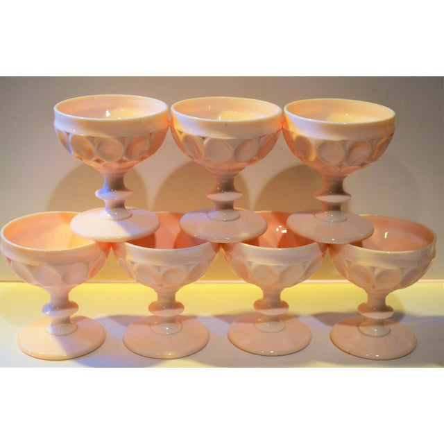 1950s Vintage Champagne Coupe Glasses - Set of 7 For Sale - Image 5 of 8