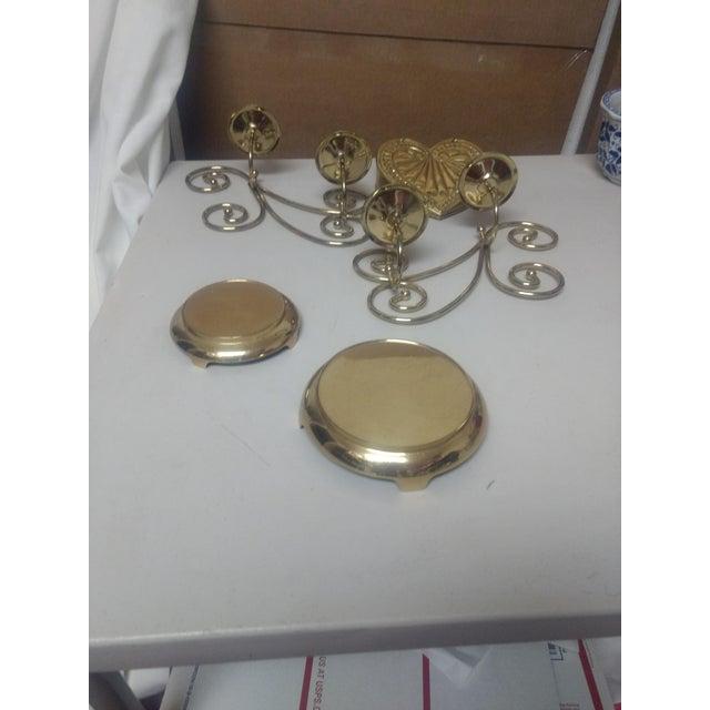 Vintage Brass Decor Set- 5 Pc For Sale - Image 4 of 6