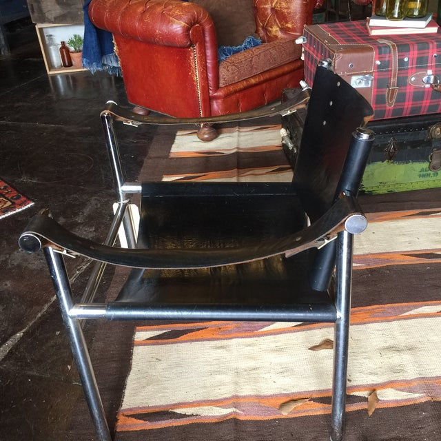 Mid Century Safari Leather Chair - Image 9 of 11