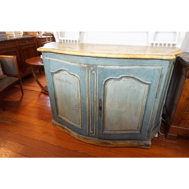 18th Century Italian Painted Credenza For Sale - Image 9 of 10