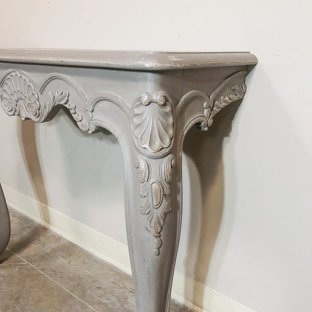 Pair 19th Century French Louis XV Painted Consoles For Sale - Image 10 of 13