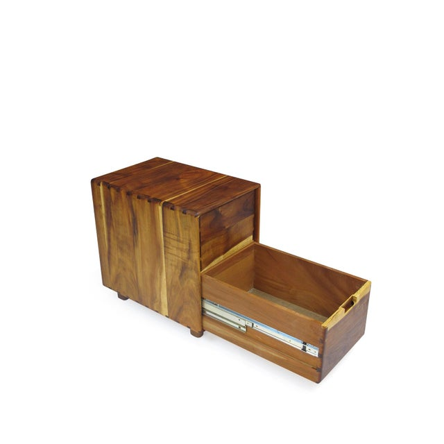 1970s Jim Sweeney Koa Filing Cabinets - a Pair For Sale - Image 5 of 11