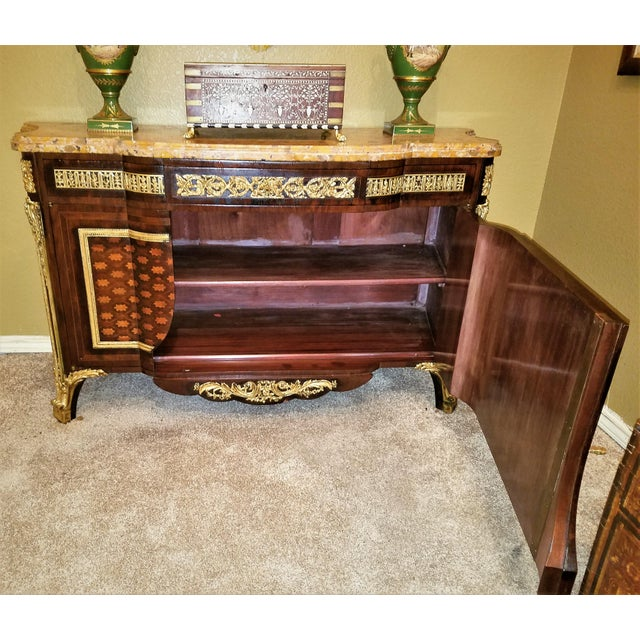 Gold 19th Century Louis XVI Commode After Reisener For Sale - Image 8 of 13