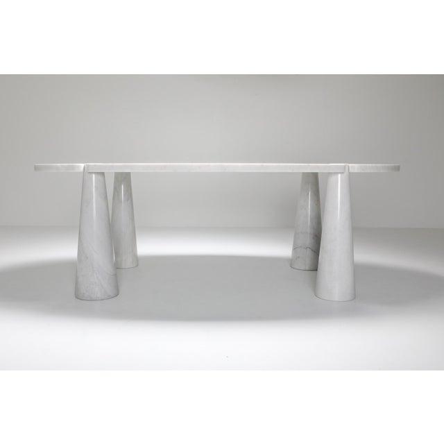 Oval Mangiarotti Carrara marble dining table for skipper, Italy, 1970s. Angelo Mangiarotti (26 February 1921–2 July 2012)...