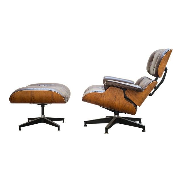 1976 vintage herman miller eames lounge chair ottoman chairish
