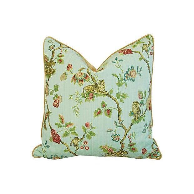 Italian Scalamandre Fleur Des Indes Pillows - Pair - Image 11 of 11