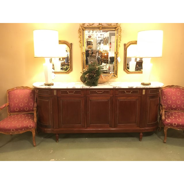 Maison Jansen Louis XV/ Directoire Style Marble Top Mahogany Sideboard - Image 2 of 9