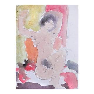 'Seated Nude' by Victor Di Gesu; 1995, Paris, Louvre, Académie Chaumière, California Post-Impressionist, Lacma For Sale