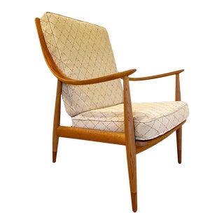 Mid 20th Century Peter Hvidt Danish Modern Teak and Oak Lounge Chair For Sale