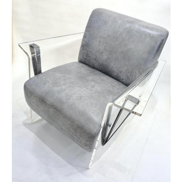A very interesting contemporary loft armchair of modern sleek organic design enclosed in Minimalist upright seamless...