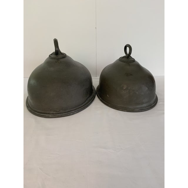 Late 19th Century Antique Pewter Meat Covers- A Pair For Sale - Image 13 of 13