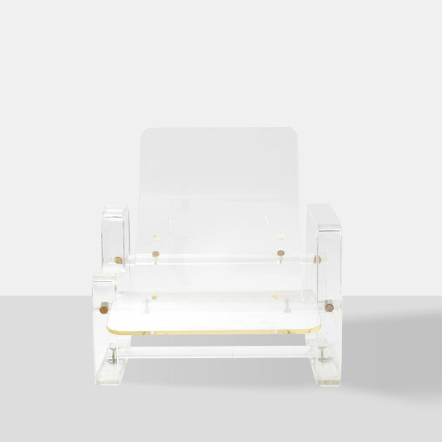 1970s A Lucite chaise lounge by Charles Hollis Jones For Sale - Image 5 of 6