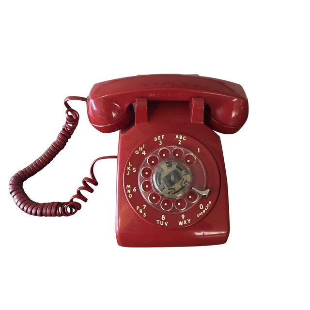 Vintage Red Rotary Telephone - Image 1 of 11