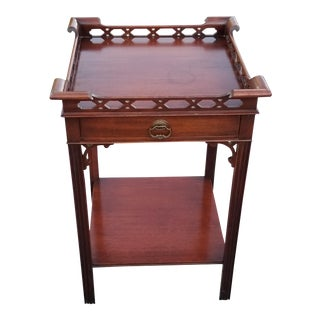 Vintage Imperial (Grand Rapid, Mi) Art Deco Mahogany Occassional Table W/1-Drawer For Sale
