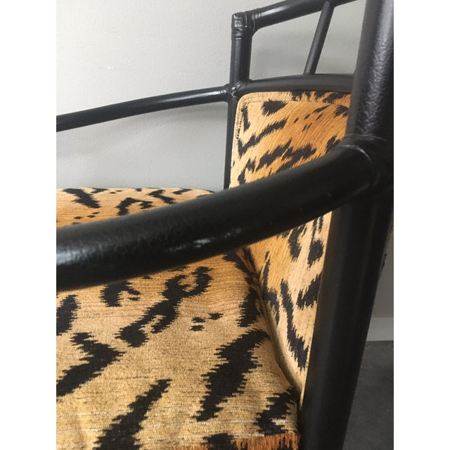 Black Organic Modern Black Bamboo + Animal Print Chair by Milling Road for Baker Furniture For Sale - Image 8 of 13