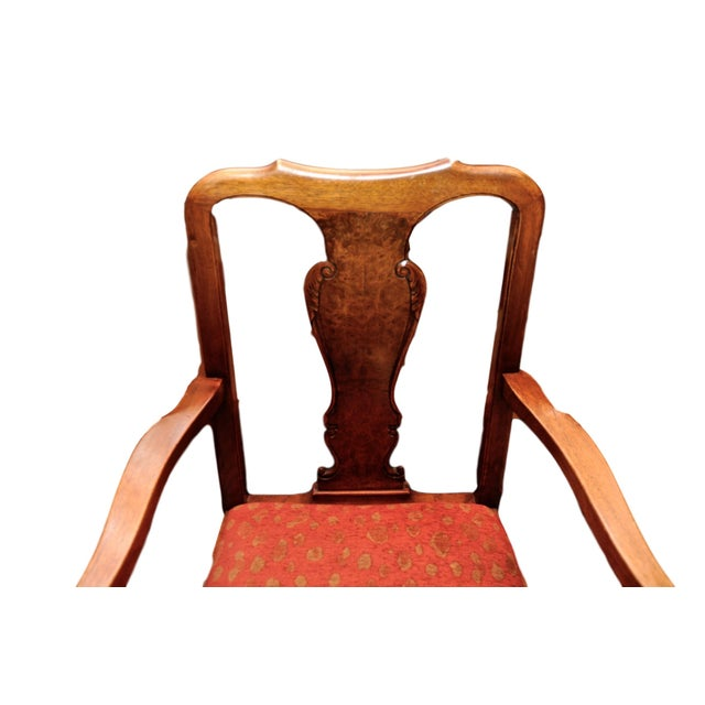 Antique Queen Anne Mahogany Dining Chairs - A Pair - Image 2 of 7
