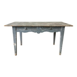 19th C. French Antique Console Table With Drawers For Sale