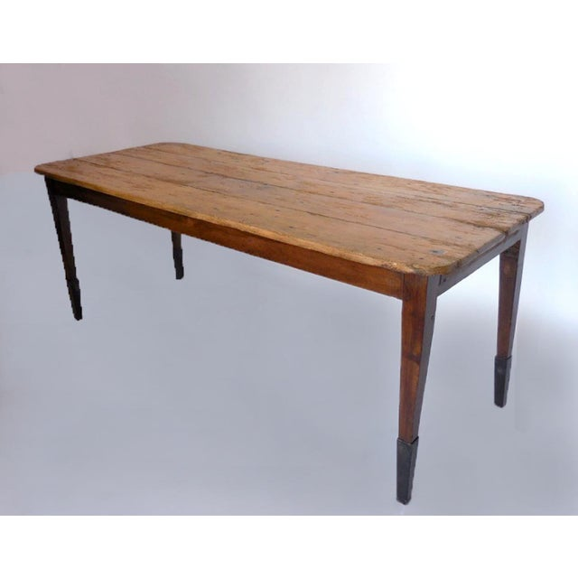 Early American 19th Century Pine Table For Sale - Image 3 of 8