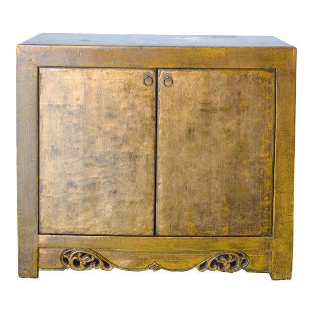 2000s Asian Modern/Art Deco Lacquer Cabinet For Sale