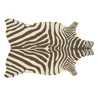 """Loloi Rugs Zadie Rug, Brown / Ivory - 5'0""""x7'6"""" For Sale"""