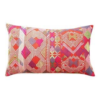 Hmong Tribal Embroiderered Pillow For Sale