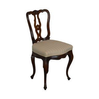 French Country Style Vintage Walnut Side or Desk Chair For Sale