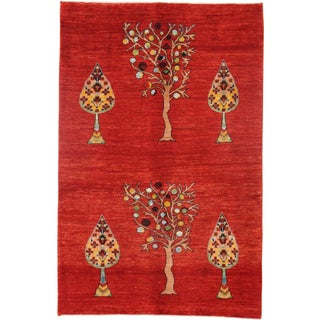 Pasargad N Y Persian Gabbeh Rug - 3′3″ × 5′ For Sale