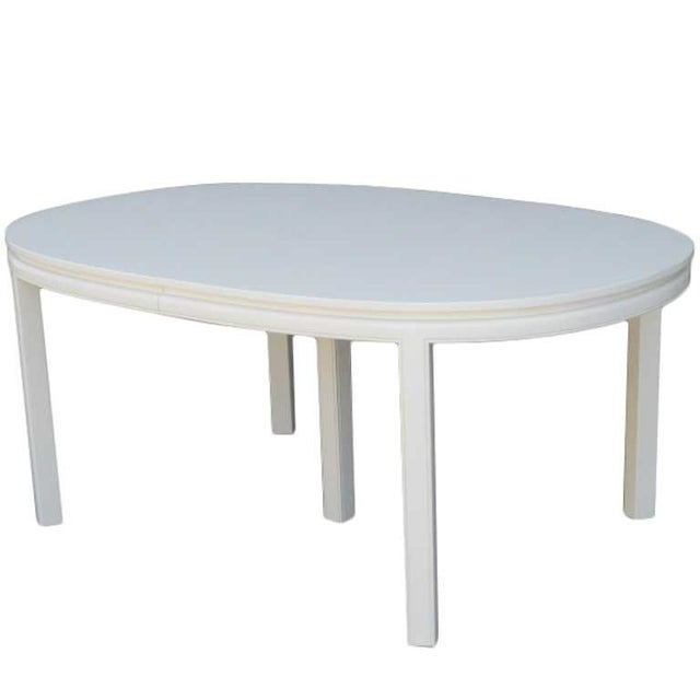 Mid-Century White Lacquer Dining Table - Image 3 of 3