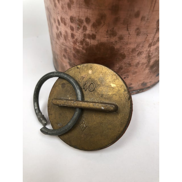 Late 19th Century Antique French Copper Bed Warmer/ Ice Water Server For Sale - Image 9 of 12
