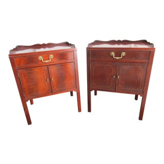 Baker Furniture Mahogany Nightstands - A Pair