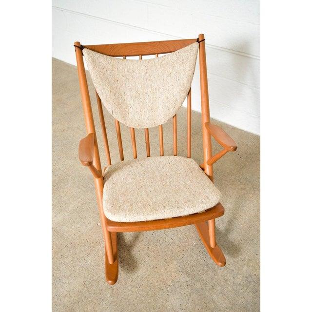 Vintage Mid Century Danish Modern Frank Reenskaug for Bramin Teak Wood Rocker Rocking Chair, 1960s For Sale - Image 9 of 11