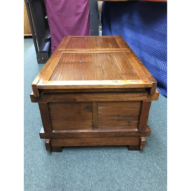 Asian Vintage Sliding Top Trunk Table For Sale - Image 3 of 10
