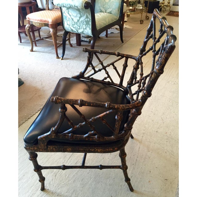 Chippendale Style Painted Iron Chairs - A Pair - Image 4 of 7