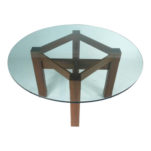 Custom Glass Top Dining Table For Sale