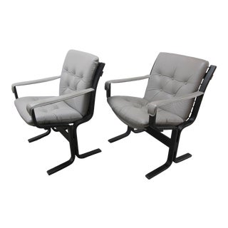 1960s Ingmar Relling Low Back Westnofa Siesta Chairs - a Pair For Sale