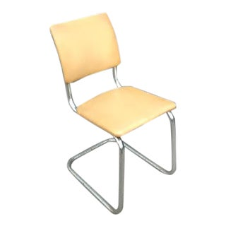 Mid Century Chrome Cantilever Chair For Sale