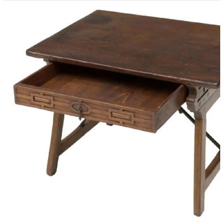 18th Century Spanish Baroque Period Collapsible Campaign Travel Desk ~ Great Side Tabe Preview