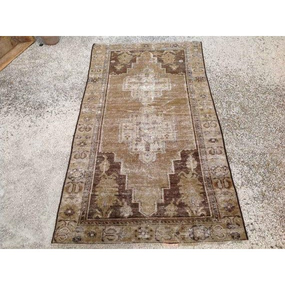 A one of a kind hand made Turkish Oushak rug. This gorgeous hand knotted area rug is made in 1930's by Anatolian tribals....