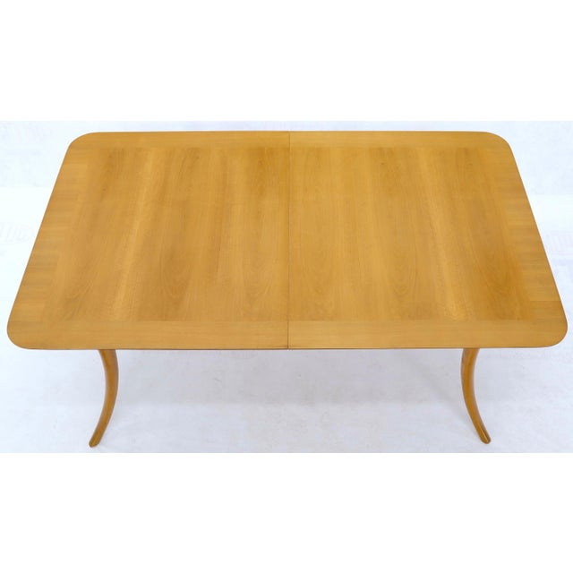 Gibbings for Widdicomb Klismos Style Dining Table with Two Extension Boards For Sale - Image 11 of 13